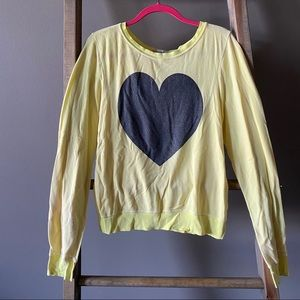 Wildfox Yellow Heart Sweatshirt